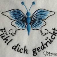 Frühlingsdeko - wunderschöner Schmetterling mit Sprüche - 6 Dateien - versch. Formate Bild 2