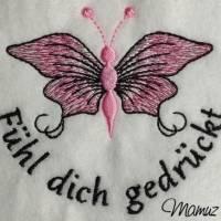 Frühlingsdeko - wunderschöner Schmetterling mit Sprüche - 6 Dateien - versch. Formate Bild 6