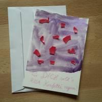 "Grußkarte ""Für DICH soll´s ROSA Konfetti regnen!"" Bild 1"