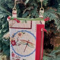 Cross Body Bag / Umhängetasche aus Gobelinstoff 'Wonderful' mit mehreren Innenfächern - 'Fly Bag' Bild 1