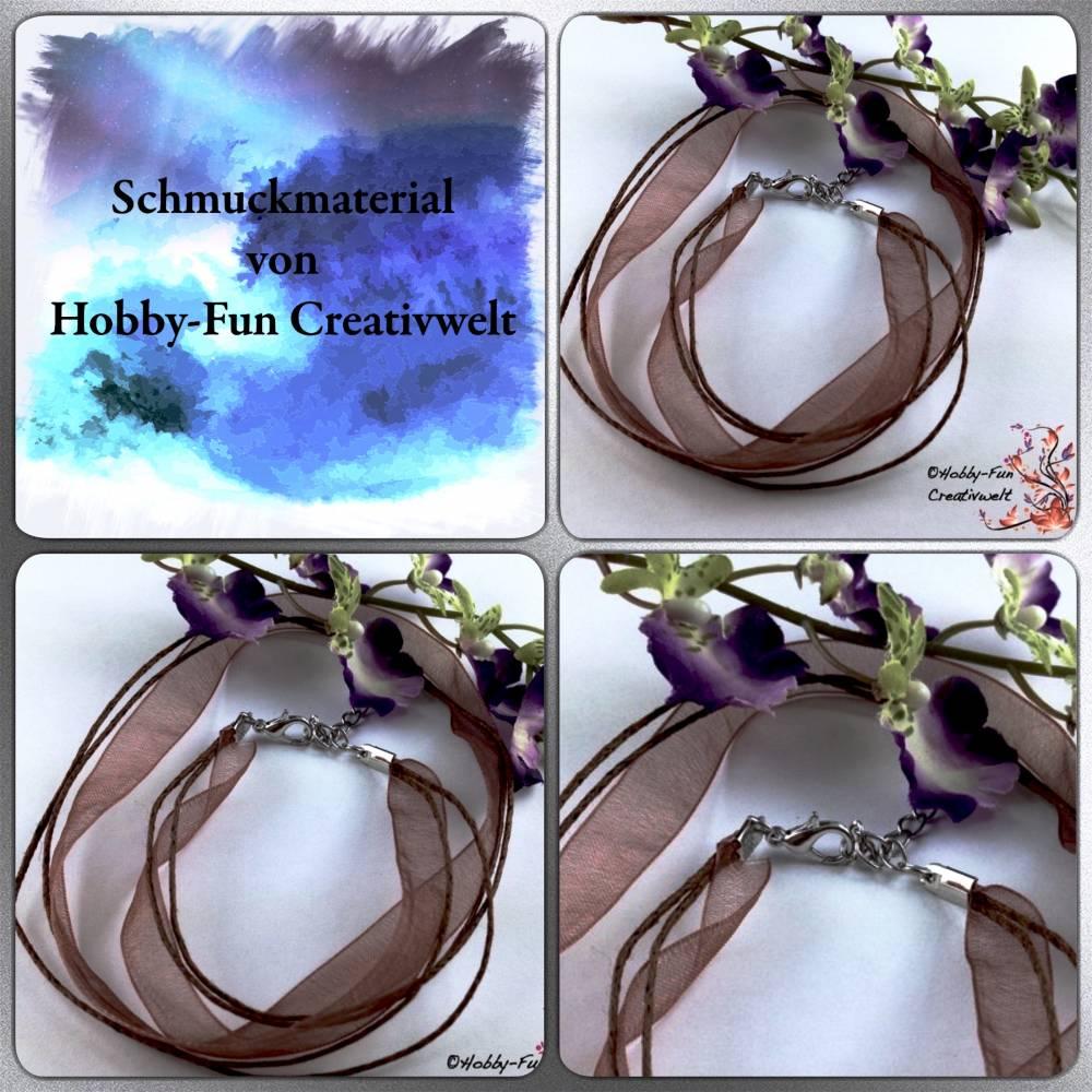 Stoff-Satin-Halsband, incl. Verschluss Bild 1