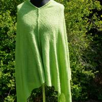 Strickponcho, Überwurf, Schulterwärmer grün Bild 1