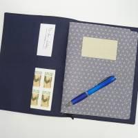 Travelers Notebook A5  Beere Dunkelblau Scrapbooking Tagebuch Planer Journal Kalender Notizheft Hülle Bild 2