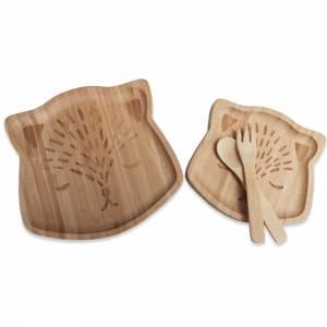 Bambus Essgeschirr für Babys mit Gravur – natürlich ökologisch reines Naturprodukt Geschenk Taufe Geburt Bild 3