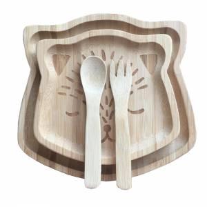 Bambus Essgeschirr für Babys mit Gravur – natürlich ökologisch reines Naturprodukt Geschenk Taufe Geburt Bild 5