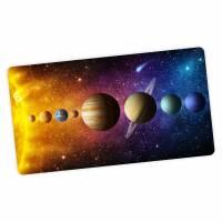 stabile XXL Vinyl Schreibtischunterlage Sonnensystem Bastelmatte Kinder Platzset - BPA frei - abwaschbar Bild 1