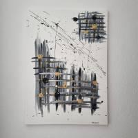 Abstrakte Kunst in Acryl Handgemalt auf Leinwand Unikat Acrylmalerei Abstraktmalerei Bild 2