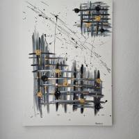 Abstrakte Kunst in Acryl Handgemalt auf Leinwand Unikat Acrylmalerei Abstraktmalerei Bild 3