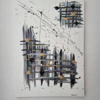 Abstrakte Kunst in Acryl Handgemalt auf Leinwand Unikat Acrylmalerei Abstraktmalerei Bild 4