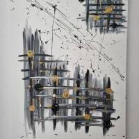 Abstrakte Kunst in Acryl Handgemalt auf Leinwand Unikat Acrylmalerei Abstraktmalerei Bild 5