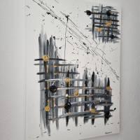 Abstrakte Kunst in Acryl Handgemalt auf Leinwand Unikat Acrylmalerei Abstraktmalerei Bild 6