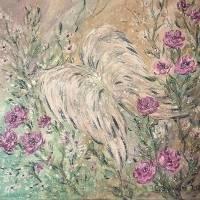 ANGEL WINGS - wunderschönes Acrylbild 50cm x 50cm, mit Metallikeffekten und Glitter Bild 4