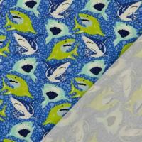 Jersey Baumwolljersey Haie Blau Oeko-Tex Standard 100(1m/13,-€)  Bild 2