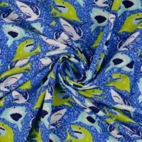 Jersey Baumwolljersey Haie Blau Oeko-Tex Standard 100(1m/13,-€)  Bild 3