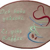 Stickdatei Set 7 Kaffee Sprüche Mug Rug Bild 8