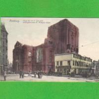 Ansichtskarte Hamburg - Ruine der St. Michaelis-Kirche - coloriert Bild 1