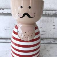 Gewichtheber, Schale, Keramik handbemalt Bild 1