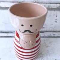 Gewichtheber, Schale, Keramik handbemalt Bild 2