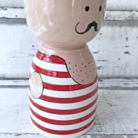 Gewichtheber, Schale, Keramik handbemalt Bild 3