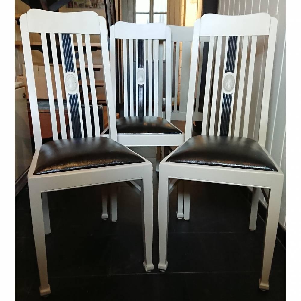 4 wunderschöne Stühle, Hochlehner, massiv Bild 1