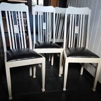 4 wunderschöne Stühle, Hochlehner, massiv Bild 2