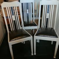 4 wunderschöne Stühle, Hochlehner, massiv Bild 3