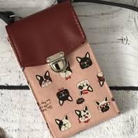 Handtasche Handytasche Fächertasche Little Foksa - Mops  Bild 1