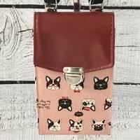 Handtasche Handytasche Fächertasche Little Foksa - Mops  Bild 2
