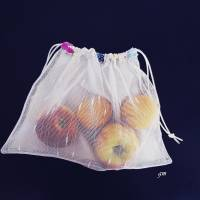 Obstbeutel oder Kartoffelnetz auch für Gemüse, nachhaltiger Stoffbeutel Bild 1