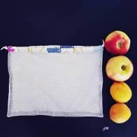 Obstbeutel oder Kartoffelnetz auch für Gemüse, nachhaltiger Stoffbeutel Bild 3