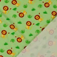 Jersey Baumwolljersey kleiner Löwe hellgrün Oeko-Tex Standard 100(1m/13,-€) Bild 2