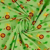 Jersey Baumwolljersey kleiner Löwe hellgrün Oeko-Tex Standard 100(1m/13,-€) Bild 3