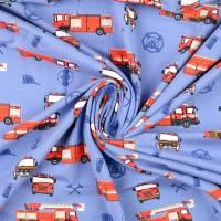 Jersey Baumwolljersey Feuerwehr blau Oeko-Tex Standard 100(1m/12,-€) Bild 3