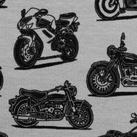 Jersey Baumwolljersey Theo Motorräder, grau Oeko-Tex Standard 100(1m/15,-€) Bild 1