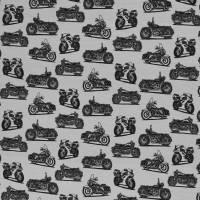 Jersey Baumwolljersey Theo Motorräder, grau Oeko-Tex Standard 100(1m/15,-€) Bild 2