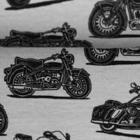 Jersey Baumwolljersey Theo Motorräder, grau Oeko-Tex Standard 100(1m/15,-€) Bild 3