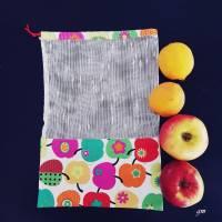 nachhaltiger Stoffbeutel für Obst oder Gemüse, Allzweckbeutel, Mehrweg-Stoffbeutel Bild 2