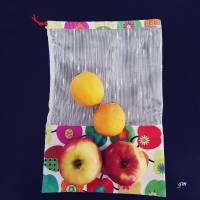 nachhaltiger Stoffbeutel für Obst oder Gemüse, Allzweckbeutel, Mehrweg-Stoffbeutel Bild 3