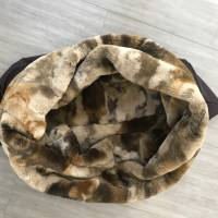Hundesack, Hundeschlafsack, Hundedecke, Hundekuschelsack aus Kunstfell  Bild 4