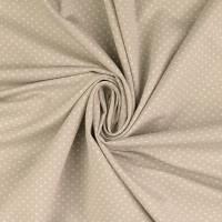 Baumwoll Jersey Punkte Dots beige Oeko-Tex Standard 100(1m/12,-€) Bild 1