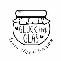 """Personalisierter Stempel """"Glück im Glas"""" DIY Stempel """"Glück im Glas"""" Ø 30/40mm Bild 2"""