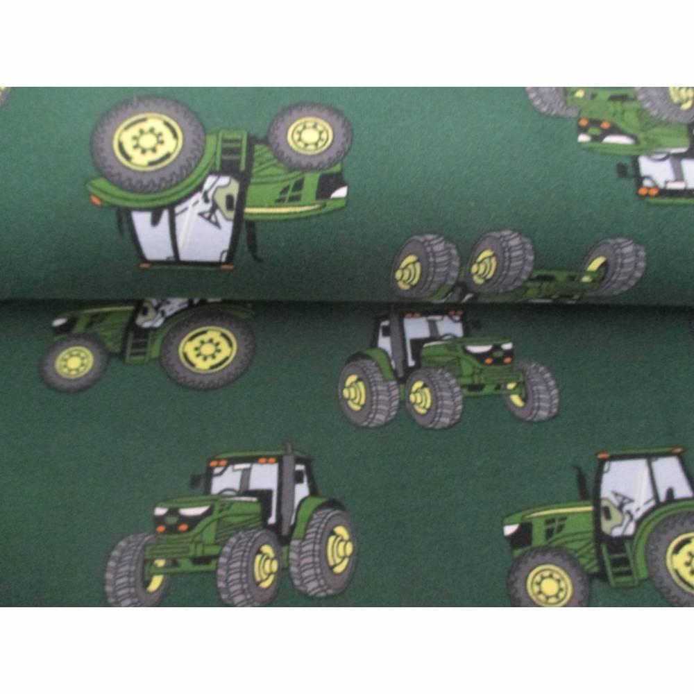 Jersey Baumwolljersey Traktor Trecker grün/dunkelgrün (1m/15,-€) Bild 1