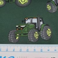 Jersey Baumwolljersey Traktor Trecker grün/dunkelgrün (1m/15,-€) Bild 2