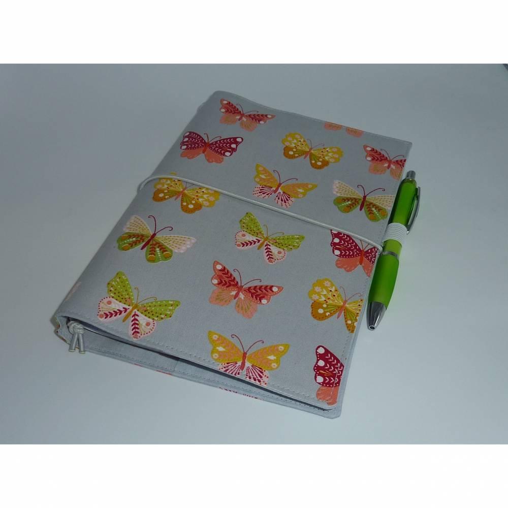 Travelers Notebook A5 Schmetterlinge Scrapbooking Tagebuch Planer Journal Kalender Notizheft Hülle Bild 1