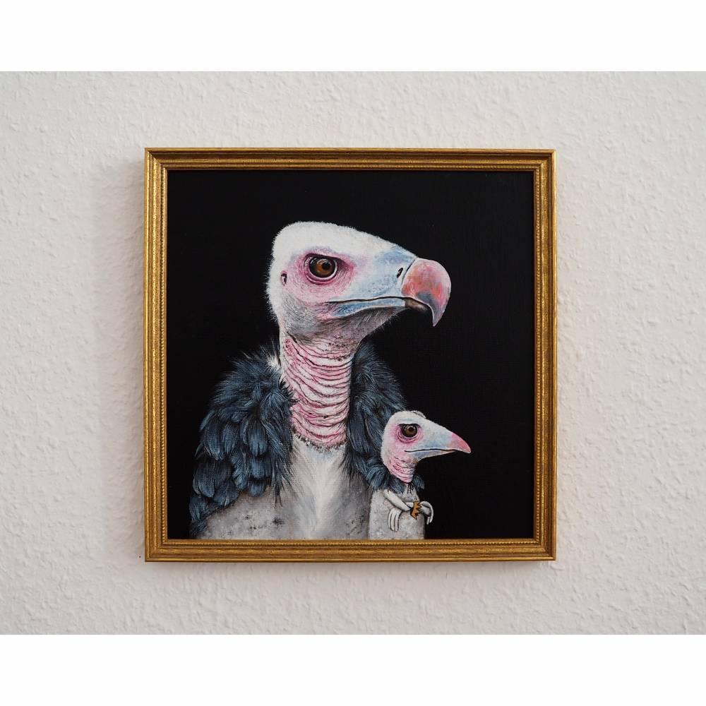 Der Geierfrosch, Froschbild, witziges Bild, Geierbild, Raubvogel, Vogelbild, Froschkönig Bild 1