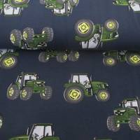 Jersey Baumwolljersey Traktor Trecker blau/grün (1m/15,-€) Bild 1