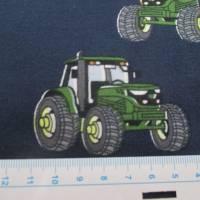 Jersey Baumwolljersey Traktor Trecker blau/grün (1m/15,-€) Bild 2