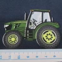 Jersey Baumwolljersey Traktor Trecker blau/grün (1m/15,-€) Bild 3