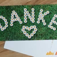 """Grußkarte """"Blumiges Danke"""" mit Gänseblümchen Bild 1"""