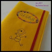 U-Heft-Hülle BABYBOY in gelb von he-ART by helen hesse Bild 1